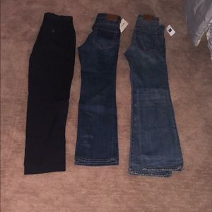 3 pairs Boys Sz 12 jeans(NWT) & dress pan
